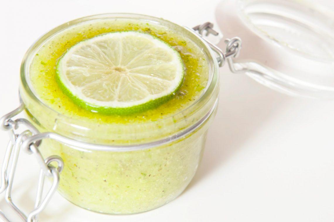 recette de gommage au citron mojito cocktail do it yourself diy mlle nostalgeek mademoiselle blog citron vert