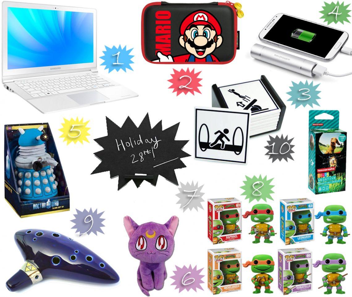 mlle nostalgeek blog la wishlist d'une geek sailor moon ordinateur portable samsung sacoche nintendo 3DS super mario jeux vidéo