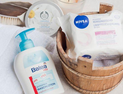 produits favoris démaquillage en douceur mlle nostalgeek blog beauté nivea balea dm the body shop