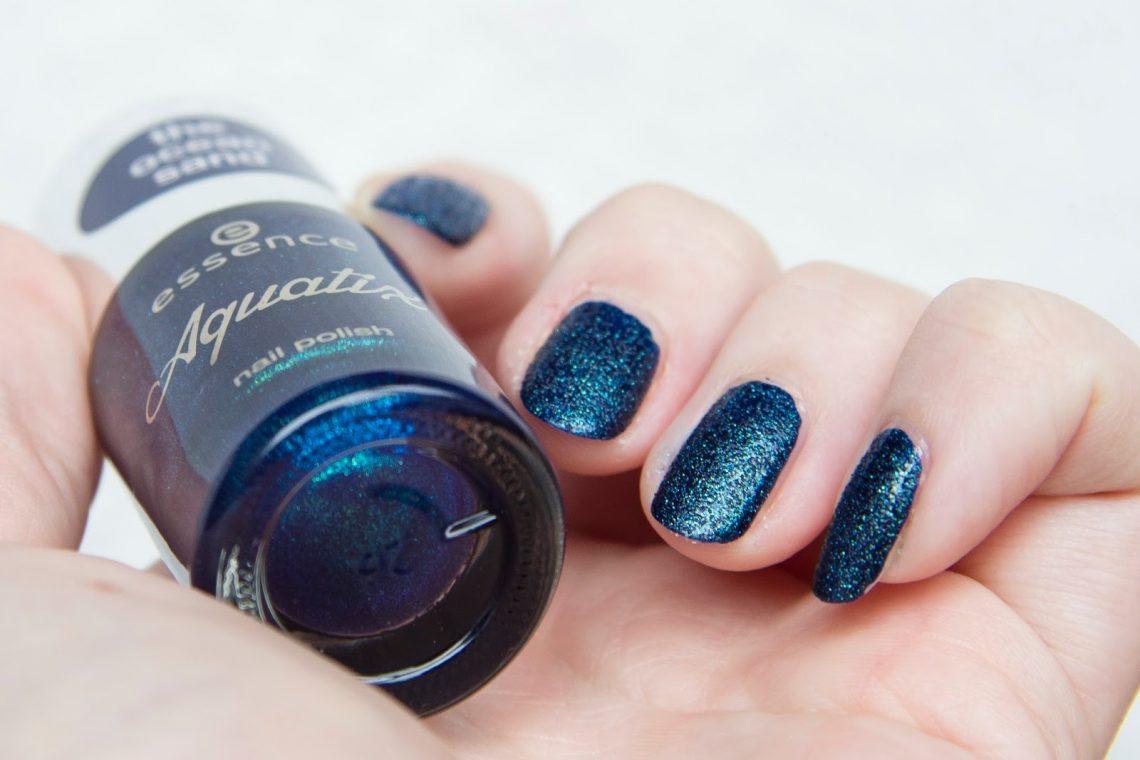 manucure nail art édition limitée Essence aquatix vernis mat texturé under the water