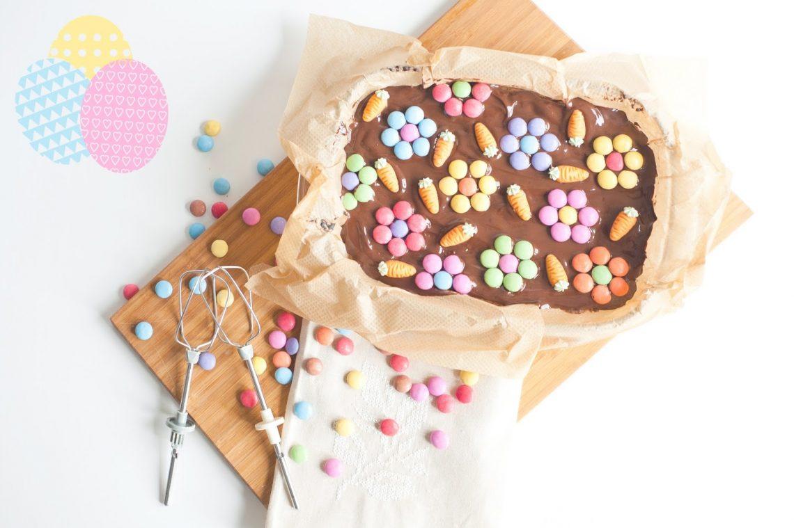 mlle mademoiselle nostalgeek blog recette paques brownies moelleux au chocolat facile et rapide à réaliser