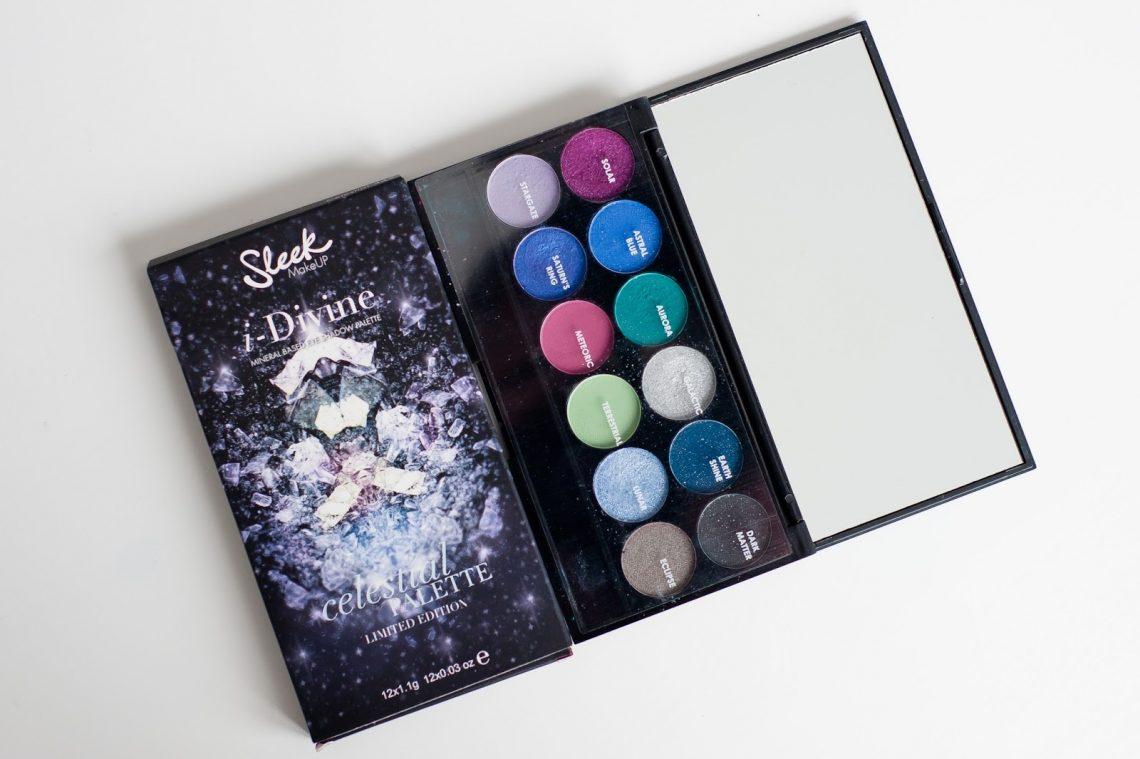 mlle mademoiselle nostalgeek palette sleek celestial makeup maquillage fotd yeux bleu packaging