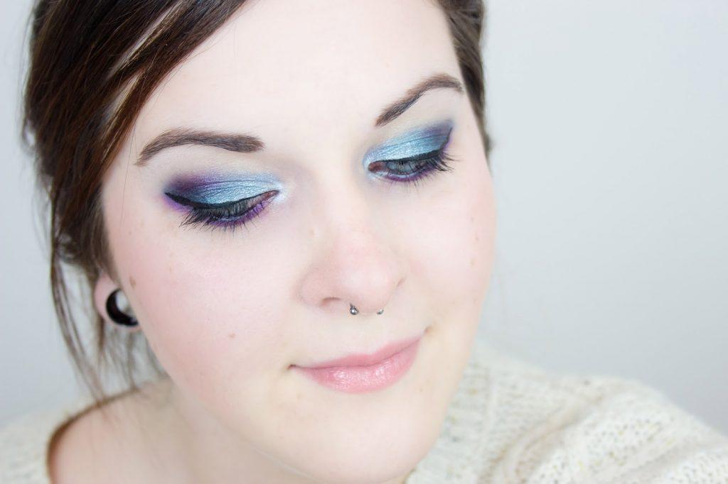 mlle mademoiselle nostalgeek palette sleek celestial makeup maquillage fotd yeux bleu