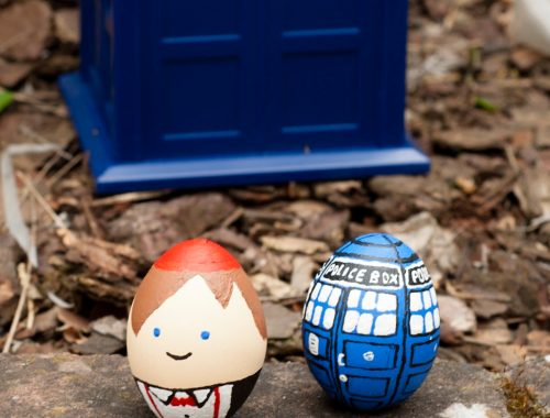 mlle mademoiselle nostalgeek blog oeufs de paques doctor who matt smith tardis cine tele serie geek nerd