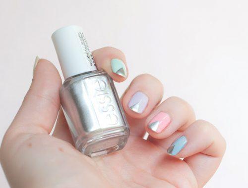 Une manucure nail art pastel Essie models own essence facile et rapide à réaliser coloré pour le printemps