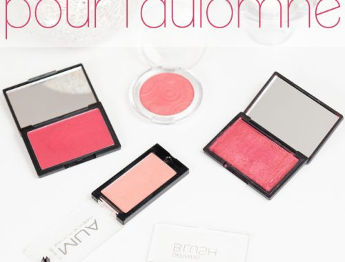 mes blush favoris pour l'automne mlle mademoiselle nostalgeek maquillage makeup teint poudre revue test blog blogueuse beauté