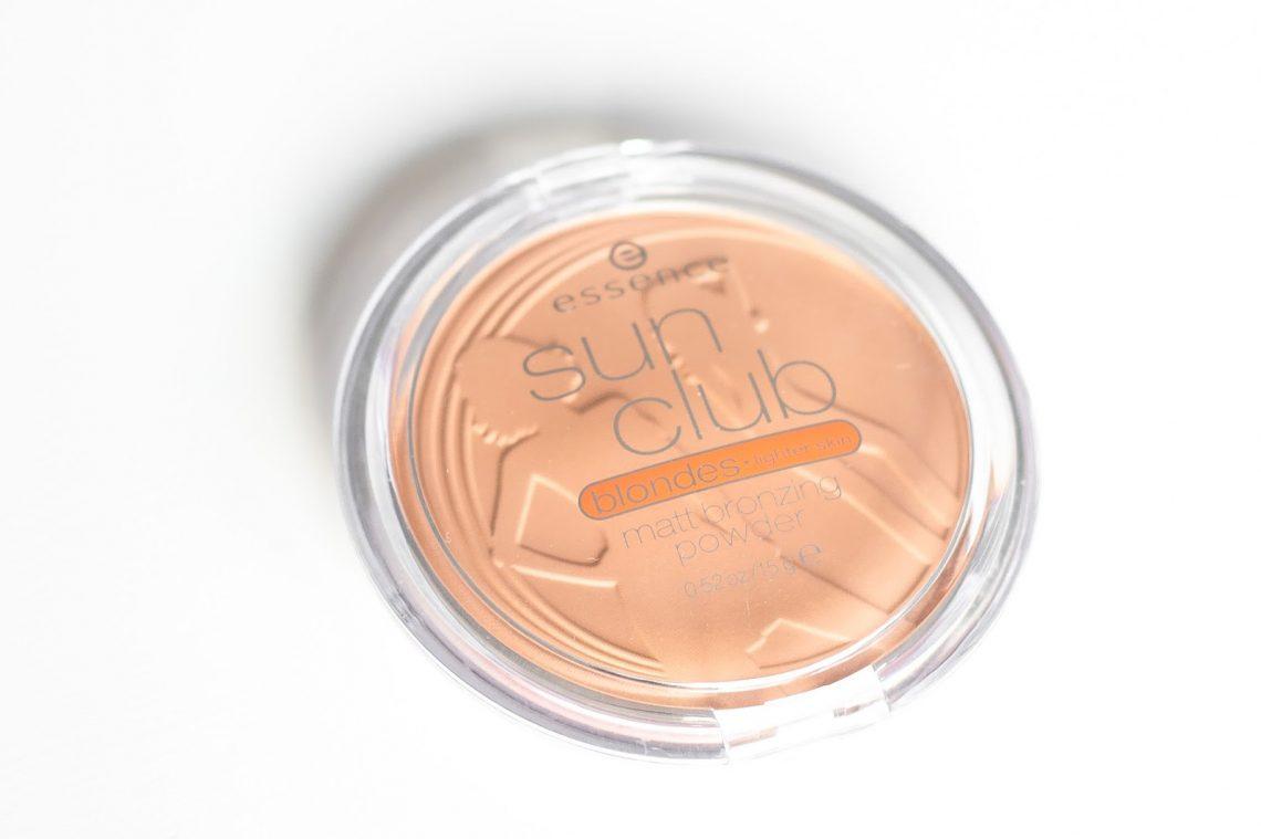 Poudre bronzante bronzeur bronzer Sun Club Blondes revue test reviez petit prix abordable pour débutant essence