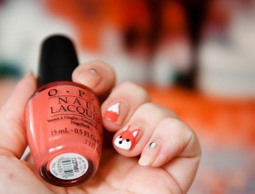Une Manucure nude automnale renard nail art facile et rapide à réaliser parfait pour ces jours d'automne
