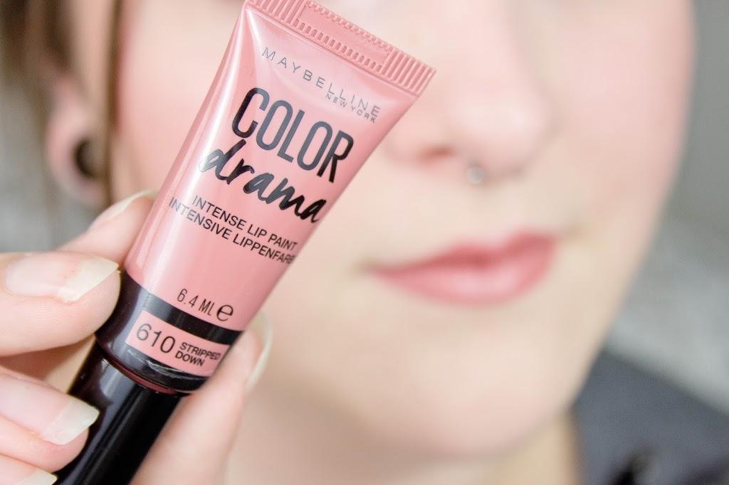 Color Drama Intense Lip Paint Stripped Down blog beauté test revue mlle mademoiselle nostalgeek rouge à lèvre nude liquide