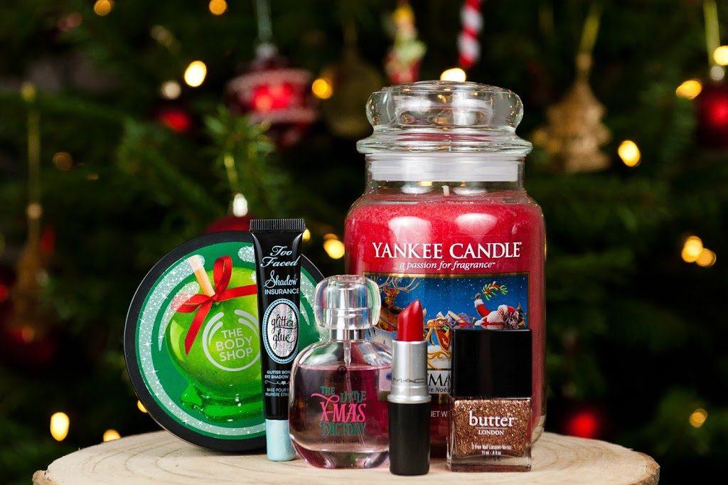 mes produits favoris pour les fêtes de fin d'année maquillage beauté yankee candles the body shop mac essence too faced butter london