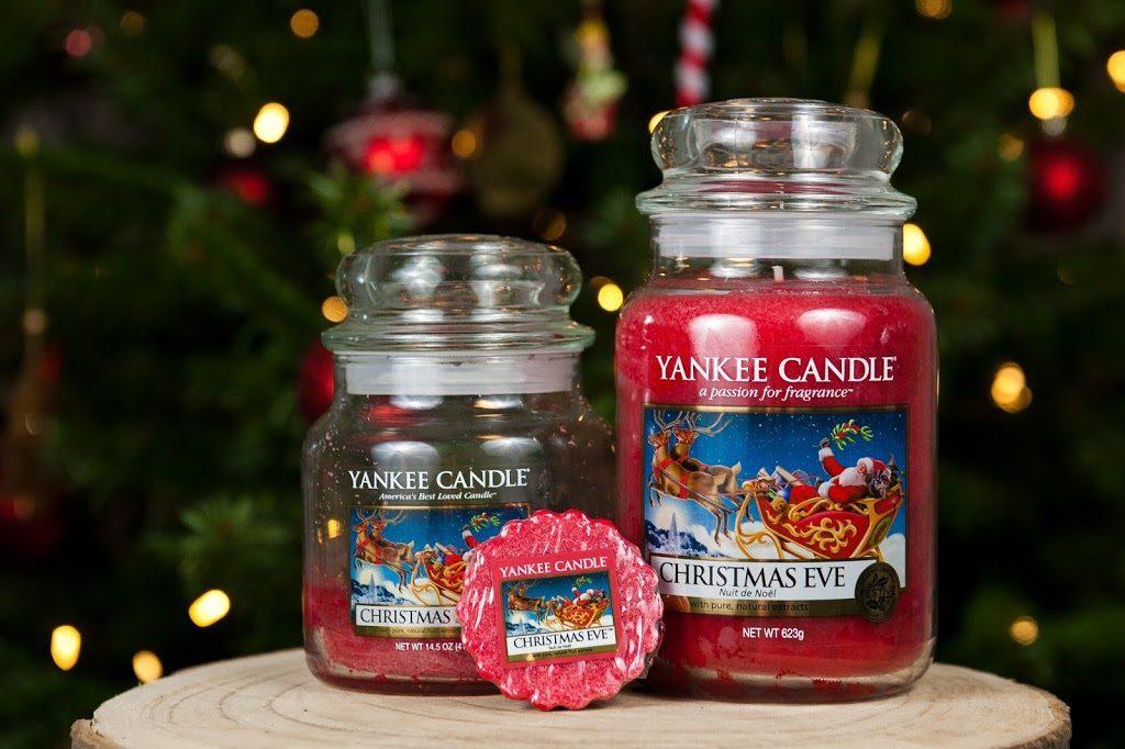Bougies Yankee Candles senteur Christmas Eve en tartelettes et en jarre