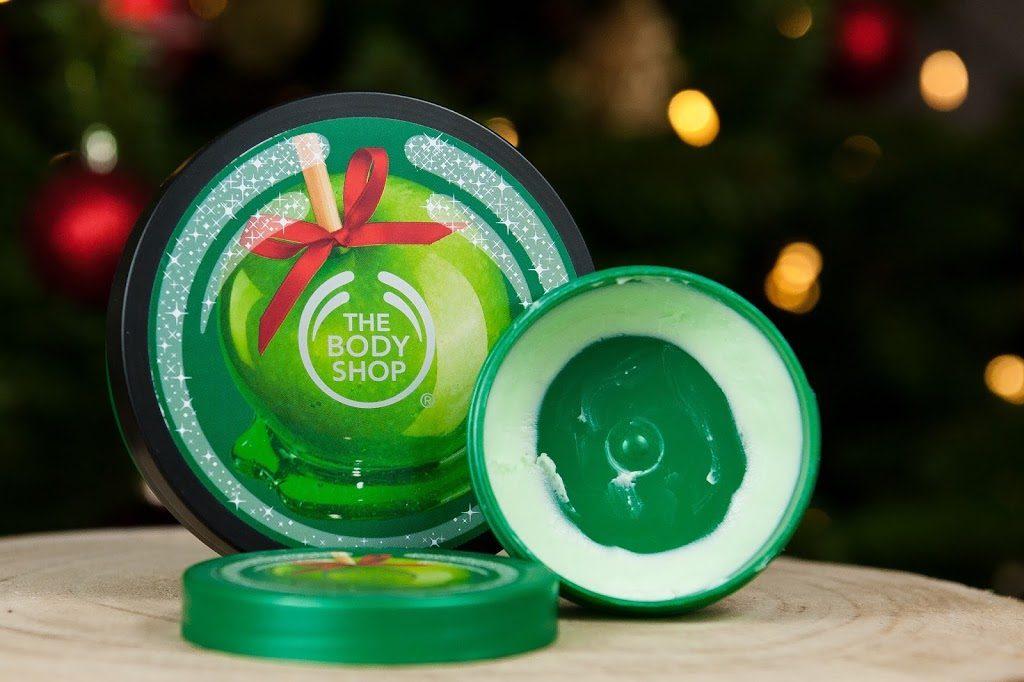 mes produits favoris pour les fêtes de fin d'année soins The Body Shop TBS glazed apple beurre corporel body butter
