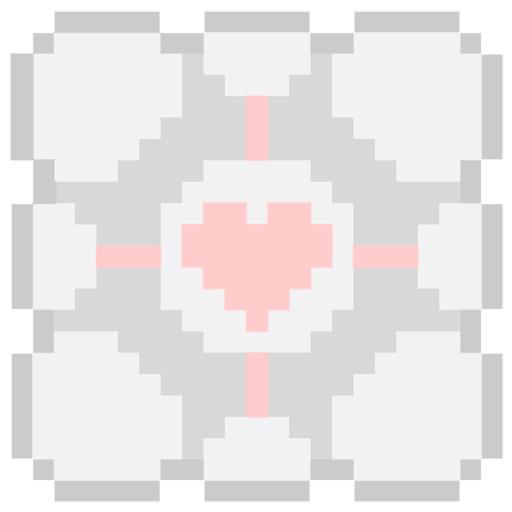 mlle nostalgeek companion cube