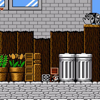 Nintendo NES jeu video game chip n dale rescue rangers