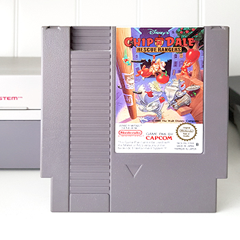 Nintendo NES jeu video game chip n dale rescue rangers