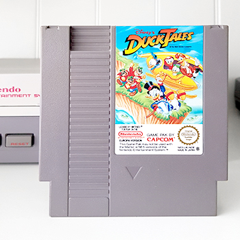 Nintendo NES jeu video game Ducktales Picsou