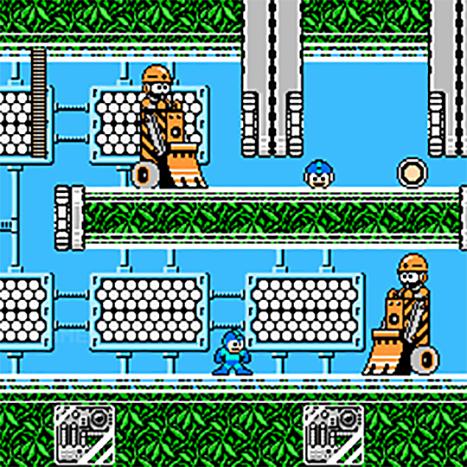 Nintendo NES jeu video game retro retrogaming console megaman 3 ingame screen