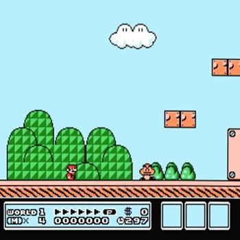 Nintendo NES jeu video game retro retrogaming console super mario bros 3 ingame screen