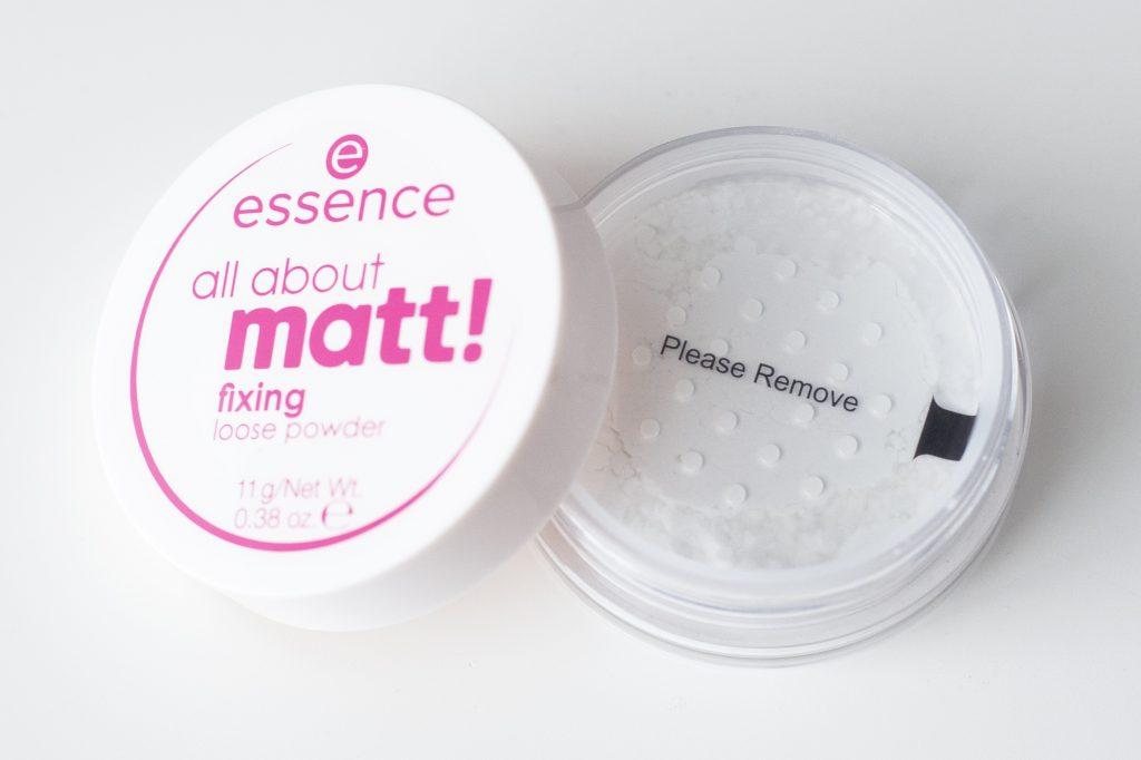 Revue de la poudre libre All About Matt d'Essence - Blog beauté belge - Mlle Nostalgeek