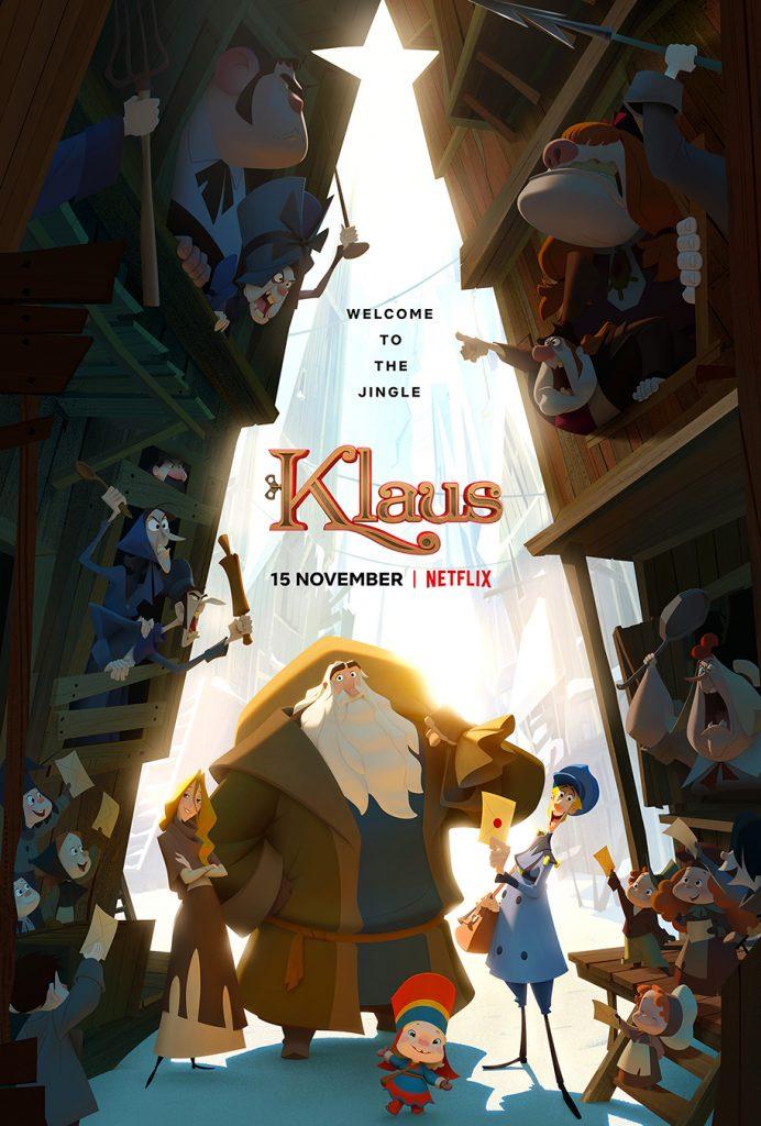 blog tv ciné film de Noël nouveau 2019 netflix klaus film d'animation