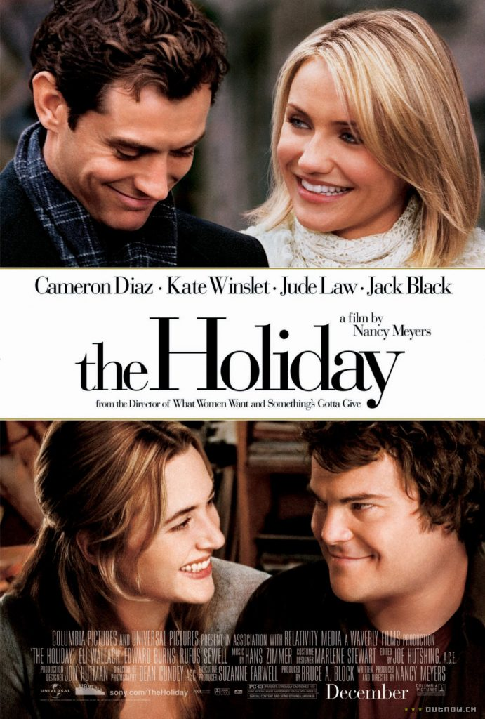blog tv ciné film de Noël comédie romantique the holiday kate winslet cameron diaz