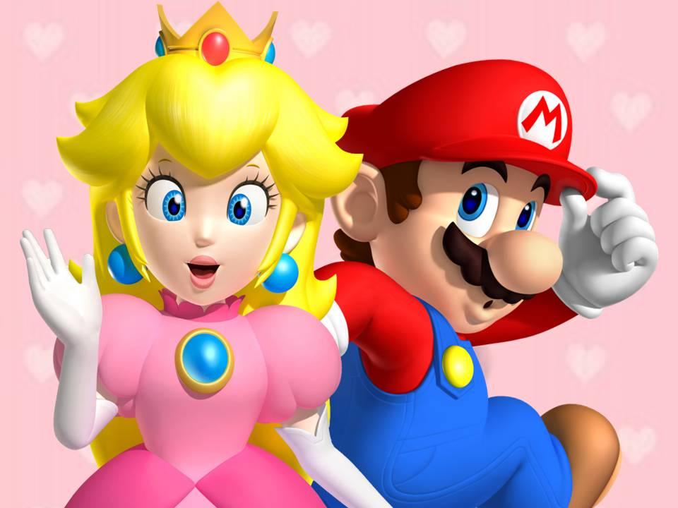 Super Mario et Princess Peach