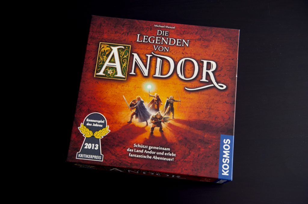boîte du jeu de plateau narratif Andor