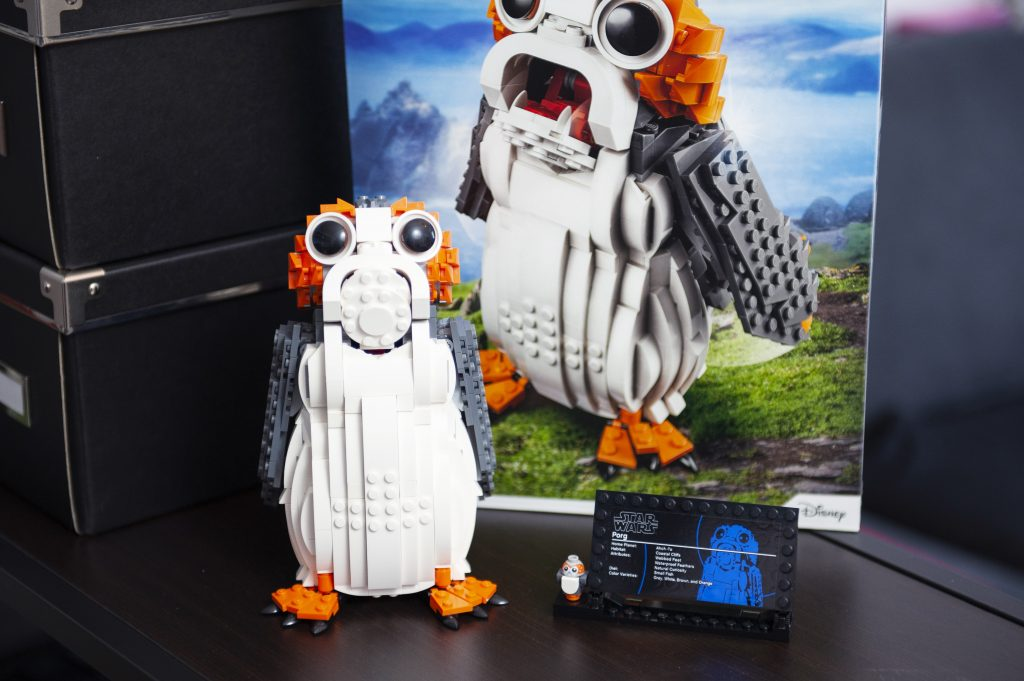 blog geek revue de set Lego Star Wars Porg 75230 vue d'ensemble