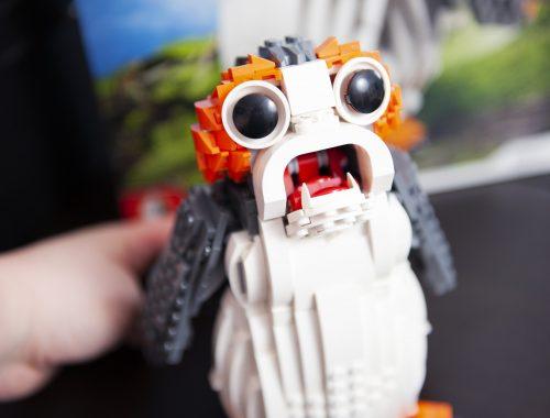 blog geek revue de set Lego Star Wars Porg 75230 méchanisme bouche ouverte