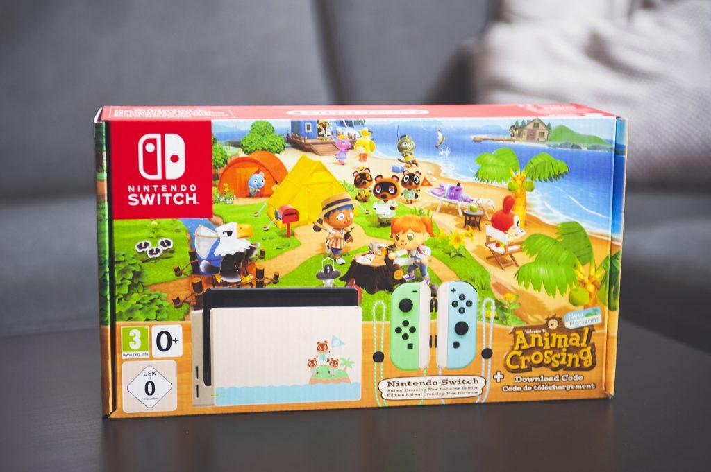 Nintendo Switch édition limitée Animal Crossing New Horizons boîte devant