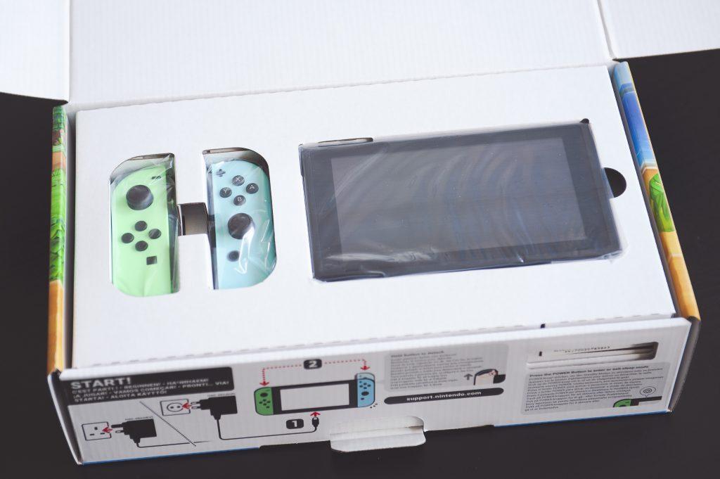 Unboxing Nintendo Switch Animal Crossing New Horizons Joy-cons joycons