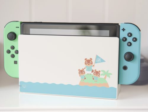 Nintendo Switch édition limitée Animal Crossing New Horizons présentation blog unboxing station d'accueil